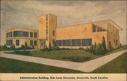 Bob Jones University - Administration Building Postcard
