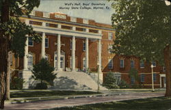 Well's Hall, Boys' Dormitory at Murray State College Postcard