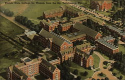 Florida State College for Women from the Air Postcard