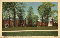 Lynchburg College and Campus Postcard