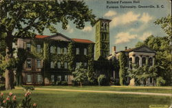 Furman University - Richard Furnam Hall Postcard