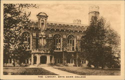 Bryn Mawr College - The Library Postcard