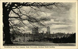 Dormitories on West Campus, Duke University Postcard