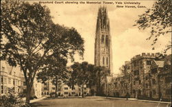 Branford Court Showing the Memorial Tower, Yale University
