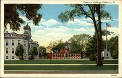 Elmhurst College and Grounds Postcard