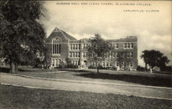 Hudson Hall and Clegg Chapel - Blackburn College Postcard
