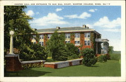 Cooper Hall and Entrance to Sun Dial Court, Shorter College Postcard