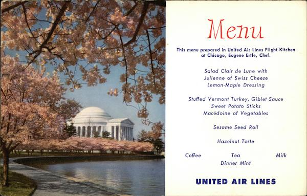 Jefferson Memorial - United Airlines Menu Washington District of Columbia