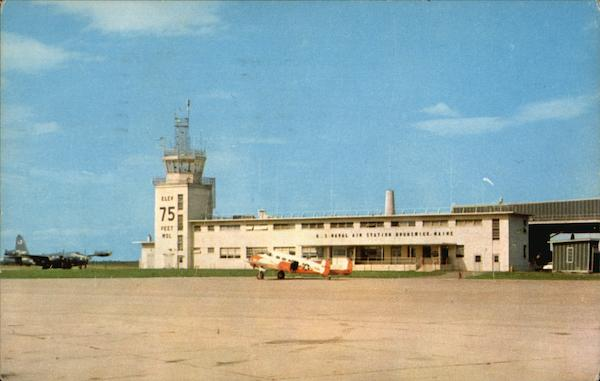 U.S. Naval Air Station - Operations Building and Tower Brunswick Maine