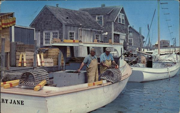 Lobster Boats and Traps on Cape Cod Massachusetts Winthrop P. Moore