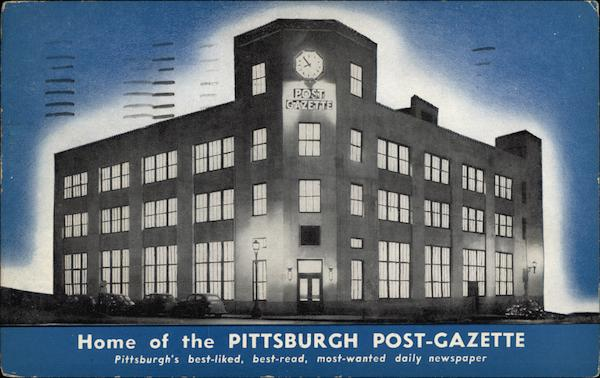 Home of the Pittsburgh Post-Gazette Pennsylvania