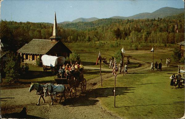 frontier town schroon lake  ny postcard