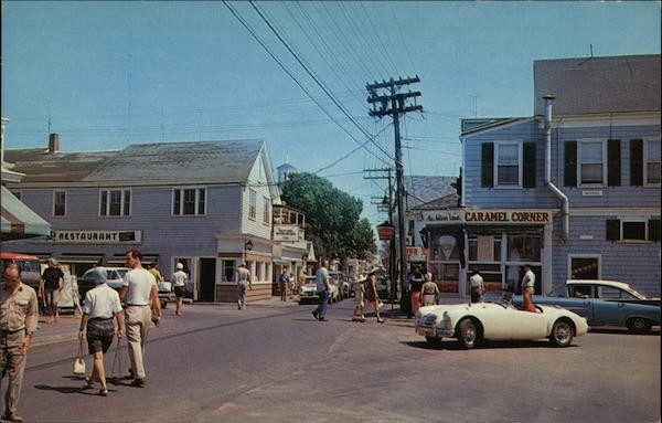 Commercial Street Looking East Provincetown Massachusetts