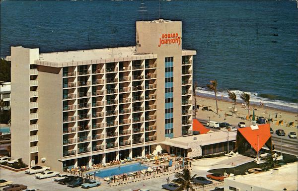 Atlantic City Hotels >> Howard Johnson's Motor Lodge Fort Lauderdale, FL Postcard