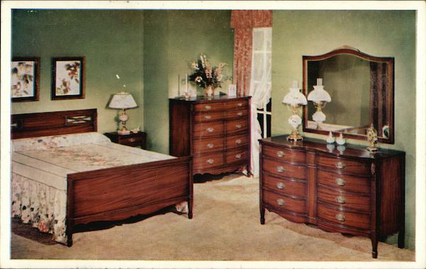 Dixie Nationally Famous Bedroom Furniture Modern 1970 39 S To Present Postcard