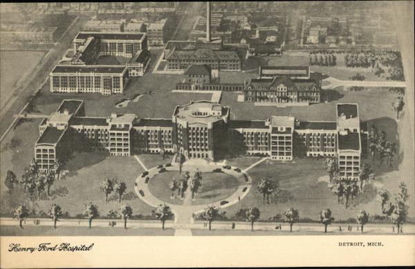 Henry Ford Hospital Detroit Mi Postcard