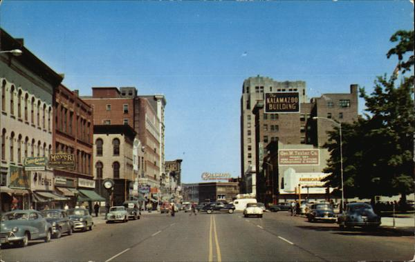 Michigan Avenue Looking East Kalamazoo Jack Taylor