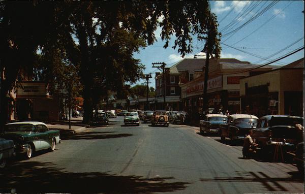 Main Street Falmouth Ma Postcard