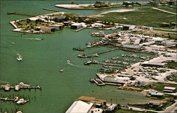 An Aerial View of Port Aransas, Texas Postcard