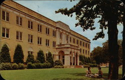 Marquis Hall, North Texas State College Postcard