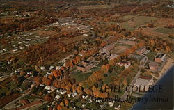 Aerial View of Thiel College Postcard