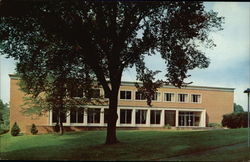 Fishburn Library, Hollins College Postcard