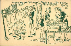 A Girl Scouts Camp Post Card