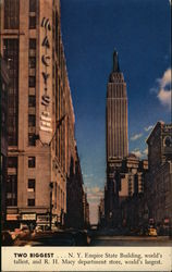 Two Biggest...Empire State Building, world's tallest, and R. H. Macy department store