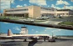 Post Office and International Airport Postcard