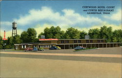 Curtwood Hotel Court and Curtis Restaurant Postcard