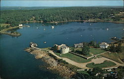 Aerial View of Historic Fort William Henry, on the shore of Pemaquid Harbor.