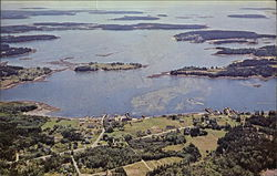 Aerial View of Harbor and Islands