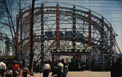 Lincoln Park at US Route 6 Midway between Fall River and New Bedford - New Giant Roller Coaster