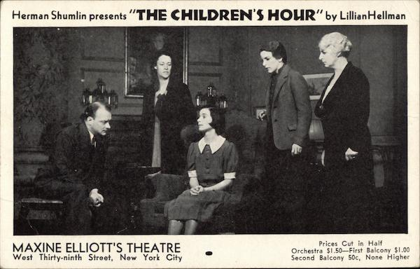 Herman Shumlin Presents The Children's Hour by Lillian Hellman New York City