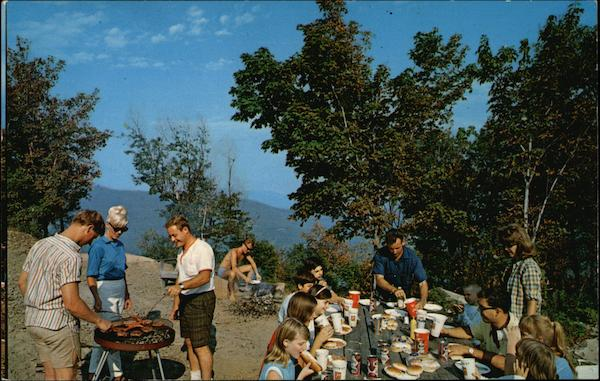 Public Picnic Area at Top of Mountain Hunter New York