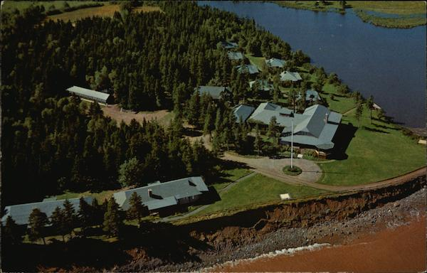 Aerial View of Pictou Lodge and Cabins Canada Nova Scotia