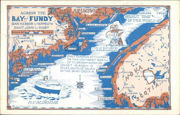 Across the Bay of Fundy Maps