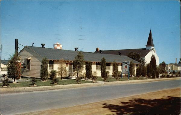 Headquarters & Chapel Fort Dix, NJ Postcard