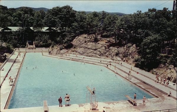 Bird 39 S Eye View Of Bear Mountain Pool Postcard