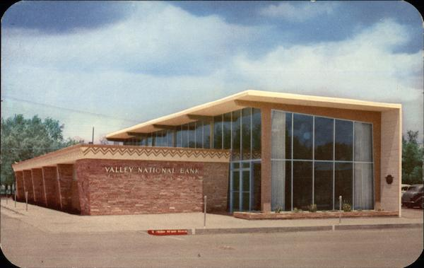 Valley National Bank Stock Quote: Valley National Bank Winslow, AZ Postcard