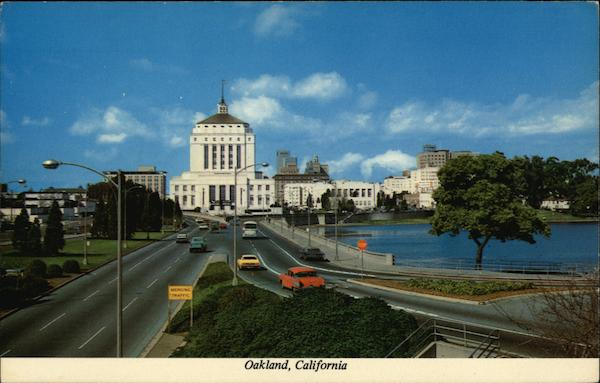 13th Street leading to Alameda County Court House Oakland California