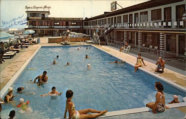 Town And Country Motel Wildwood Crest Nj Postcard
