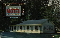 Highland Motel & Cottages Postcard