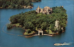 Air View of Heart Island, Boldt Castle
