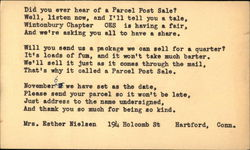 Typed Request for Parcel Post Sale
