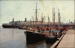 View Showing Fishing Boats at Dock