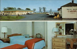 White House Motel & Cabins Postcard