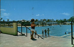"Public Swimming Pool ""El Tuque"" Postcard"