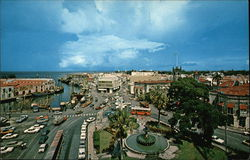 View of Trafalgar Square and Downtown of Bridgetown