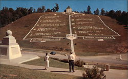 The Ten Commandments at the Fields of the Wood shrine of the Church of God Postcard